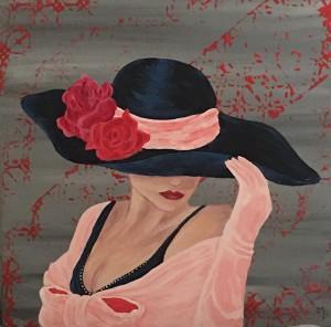 La dame au chapeau (Version Rose )